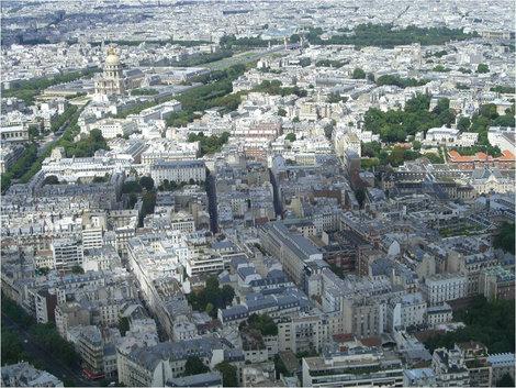 Париж со смотровой площадки башни