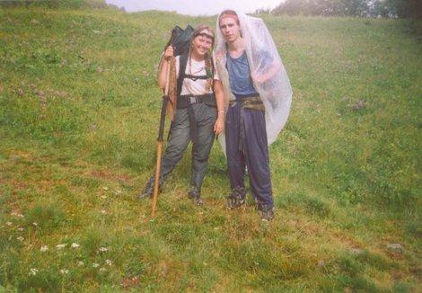 Я и Фил на пути к метеостанции