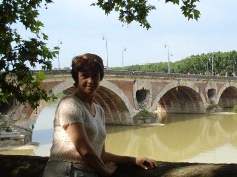 Тулуза. Река Гарона. Довольно мутное зрелище...