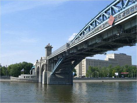 Под мостом московской Окружной железной дороги