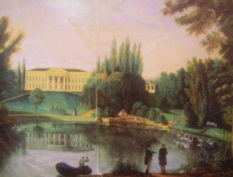 Дворец в Тульчине на старой картине (Винницкий музей)