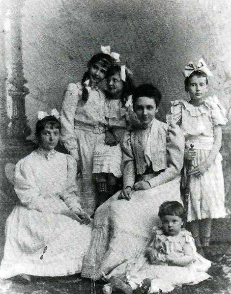Жена и дети Петра Столыпина