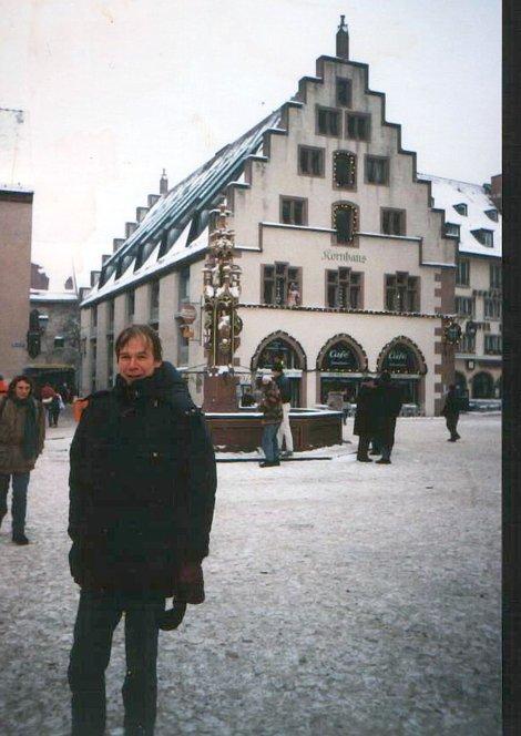 Город Фрайбург под Новый год