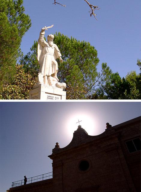 Гора Кармил и св. пророк Илия, который, по священному писанию, сражался на этом месте с силами зла.