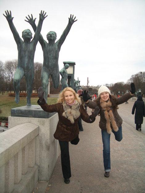 Фрогнер-парк с фигурами Вигеланда