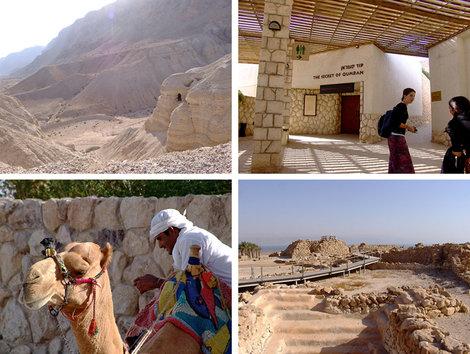 Третья остановка, национальный парк Кумран. Место, где в 1947 году были найдены знаменитые «Рукописи Мертвого моря» — Ветхий завет времен Иисуса.