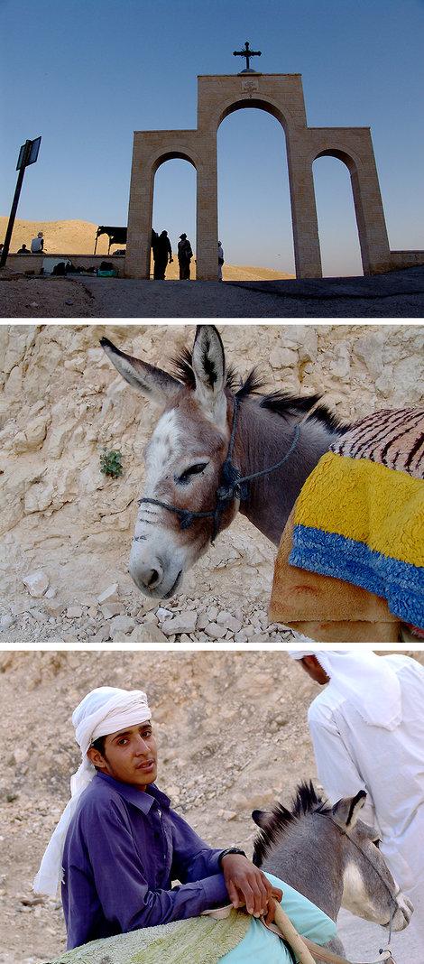 Дальше дорога к монастырю Георгия Хозевита, в красивейшем ущелье Вади-Кельт и катание на осликах. Как говориться: «У нас на ослах ездят только туристы».