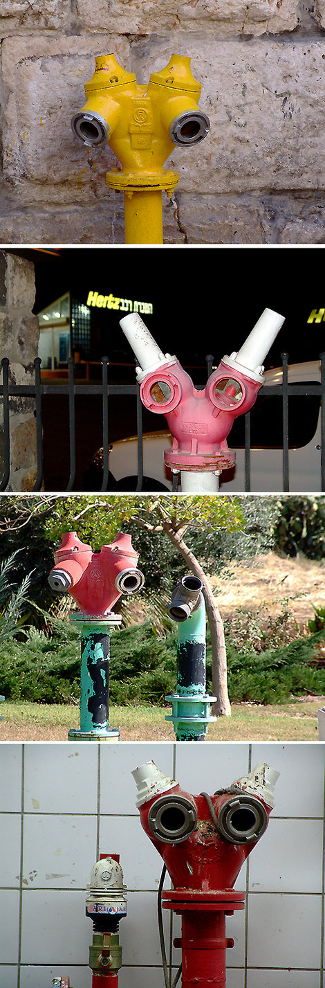 И кругом наблюдающие за нами инопланетяне! На самом деле, пожарные краны на видных местах просто военная необходимость.