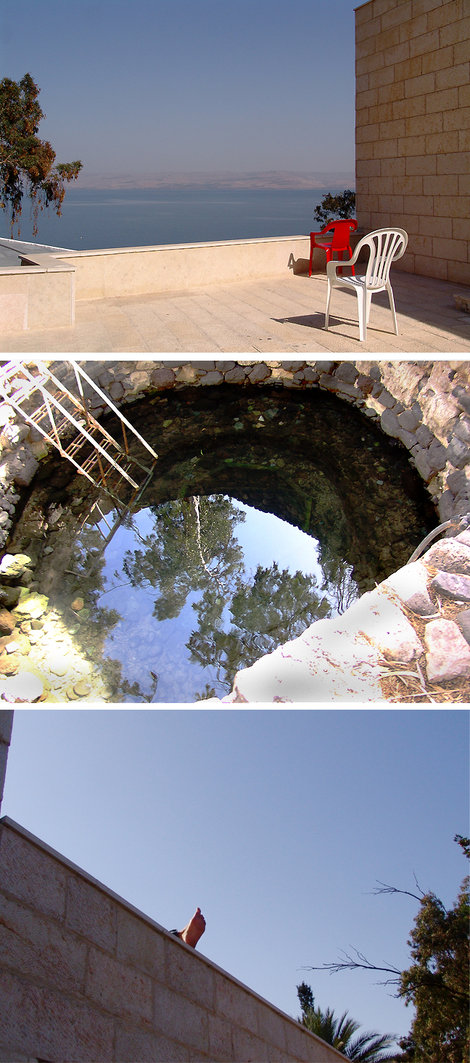 Церковь и монастырь Святой Равноапостольной Марии Магдалины на берегу Галилейского моря. Здесь можно искупаться в радоновом источнике и отдохнуть.