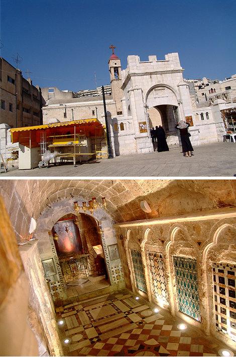 Назарет — город Девы Марии начался для нас с посещения греческой церкви св. Гавриила, где бьет источник Богородицы, который никогда не пересыхал, даже в самые засушливые годы.