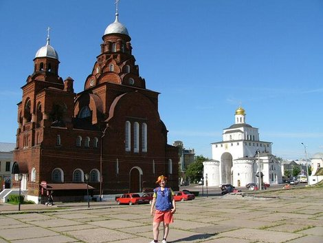 02. Троицкая церковь (1913–1916) и Золотые ворота (1158–1164)