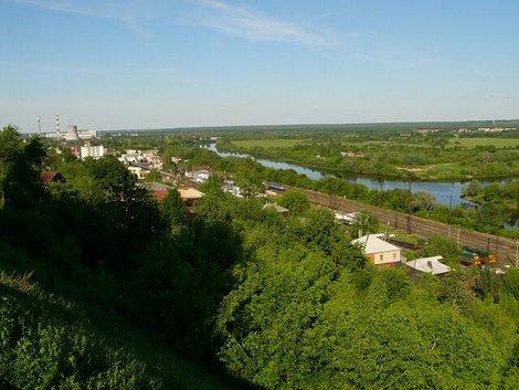 20. Вид на окрестности Владимира с обзорной площадки
