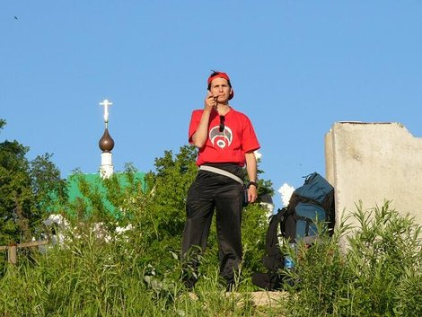 04. Муромский Спасо-Преображенский мужской монастырь. Вид с Оки