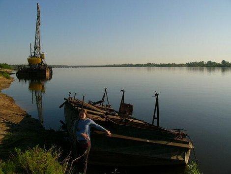 12. Река Ока  — песчаные берега, древние плавучие средства