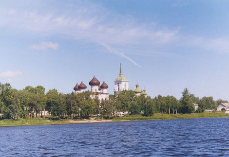 Вид на город с правого берега  Онеги.