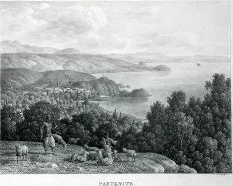 Партенитская долина на гравюре Кугельхена (нач. 19 века) (