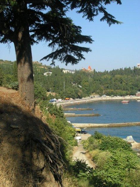 Вид от Карасана на Кучук-Ламбат